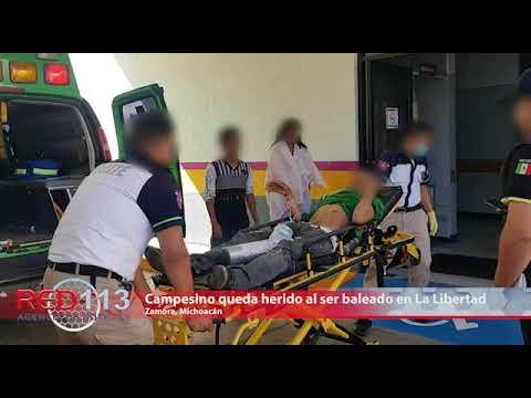 VIDEO Campesino queda herido al ser baleado en la colonia La Libertad