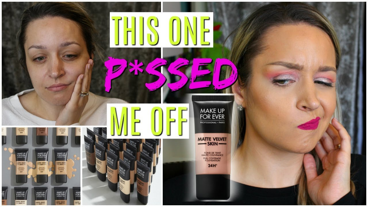 MAKE UP FOREVER MATTE VELVET SKIN FOUNDATION & All Day Wear Test