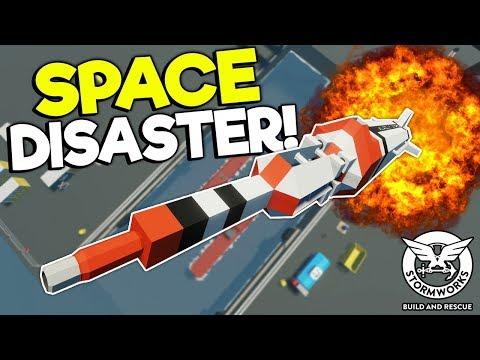 LAUNCHING & CRASHING SPACE ROCKETS! - Stormworks Multiplayer Gameplay