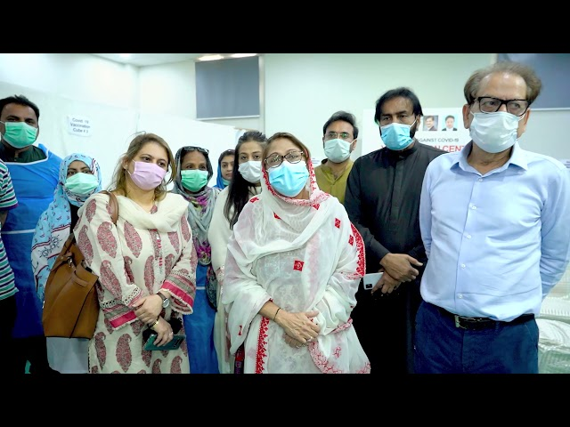 Faryal Talpur | Covid-19 Vaccination Centre | Arts Council Karachi #acpkhi #artscouncil #covid_19