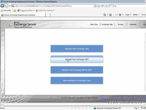 Exchange 2010 Deployment Assistant CBT
