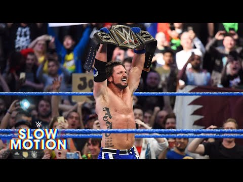 Experience AJ Styles' WWE Title victory in slow motion