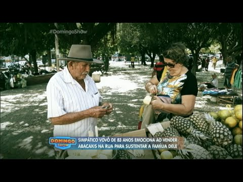 Conheça o vovô de 83 anos que sustenta a família com abacaxi