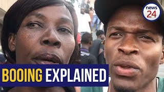 WATCH   Zimbabweans explain why they booed Cyril Ramaphosa at the #MugabeMemorial