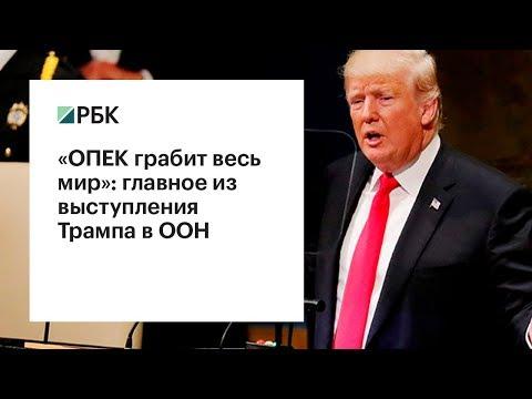 «ОПЕК грабит весь мир»: главное из выступления Трампа в ООН