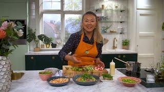 Kökets middag: Ricebowl med wasabikräftor och avok...