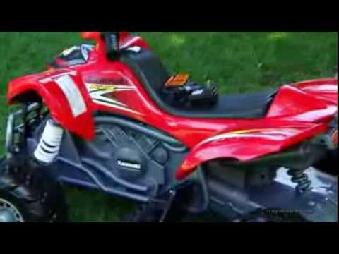 Fisher-Price Battery Powered Kawasaki KFX ATV With Monster Traction - Product Review Video