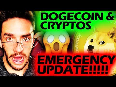 DOGECOIN U0026 CRYPTOS SELLING OFF!!!! BIG UPDATE!!!!! #dogecoin #cryptoscrashing #doge
