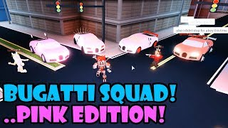 BUGATTI DREAM TEAM | PINK EDITION! Roblox JAILBREAK