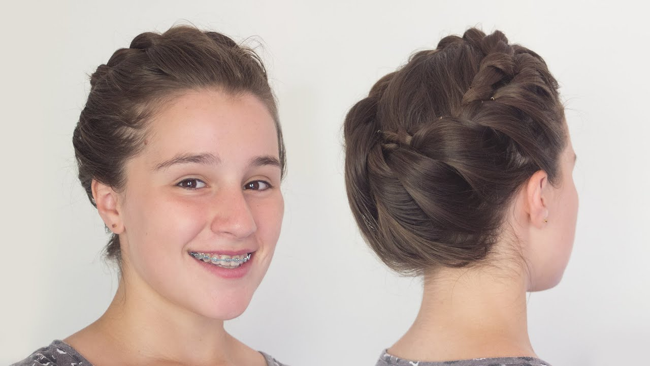 Greek Goddess Crown Braid Hairstyle For Long Hair Youtube