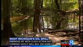 Enbridge to buy homes near oil spill