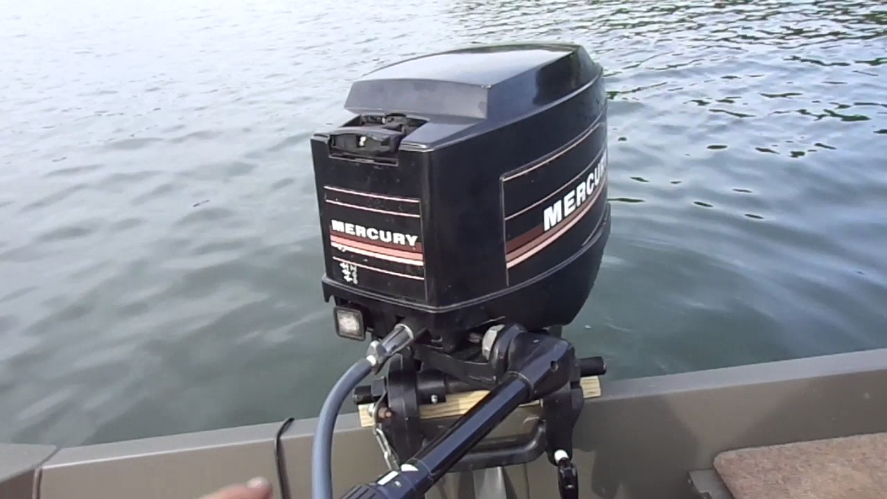 Lake test of 1985 mercury 25xd youtube for Remanufactured outboard motors for sale