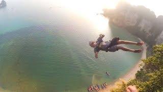 CRAZY JUMP AT TROPICAL BEACH!
