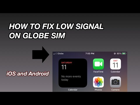HOW TO FIX LOW SIGNAL ON GLOBE SIM   iOS   Android
