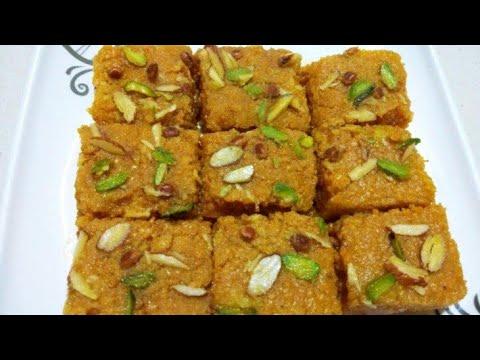 માવા વગર મોહનથાળ બનાવવાની રીત | Mohanthal Recipe | Gujarati Sweet | Mohanthal Banavani Rit