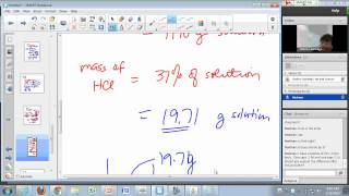 general chemistry lecture aqueous solutions and molarity