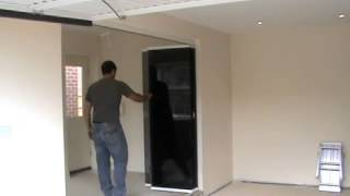 Frameless Glass Room Divider Doors