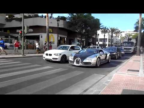 bugatti veyron pur sang benzema in marbella youtube. Black Bedroom Furniture Sets. Home Design Ideas