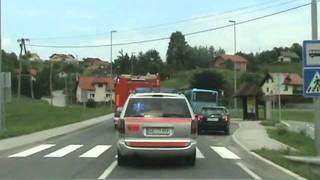 Prometna nesreča ter požar vozila na avtocesti (počivališče Tepanje)