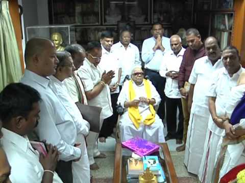 Vedic chants at Karunanidhi