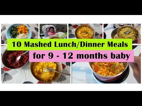 10 Mashed meals for 9 – 12 months baby | 9,10,11,12 months baby food recipes | Indianbabyfoodrecipes