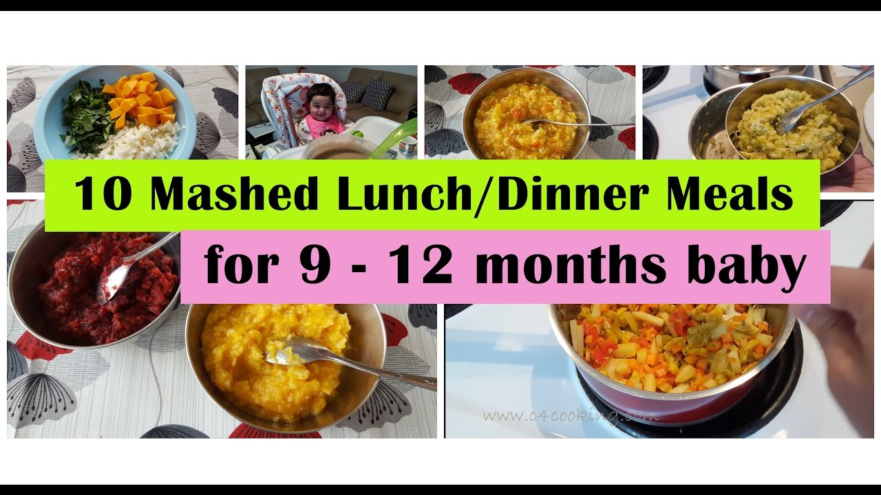 10 mashed meals for 9 - 12 months baby | 9,10,11,12 months baby food
