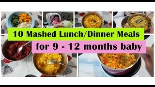 10 Mashed meals for 9 - 12 months baby  9,10,11,12 months baby food recipes  Indianbabyfoodrecipes