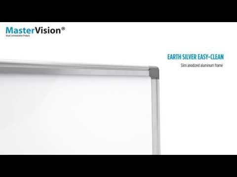 MasterVision Earth Silver Easy-Clean Dry Erase Board