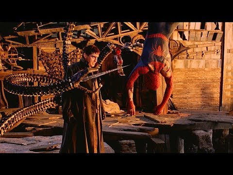 spiderman vs doctor octopus final battle scene spider