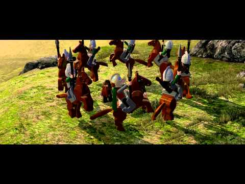 LEGO Lord of the Rings :: funny Riders of Rohan scene