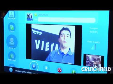 Demo Of Skype On Panasonic TVs | Crutchfield Video