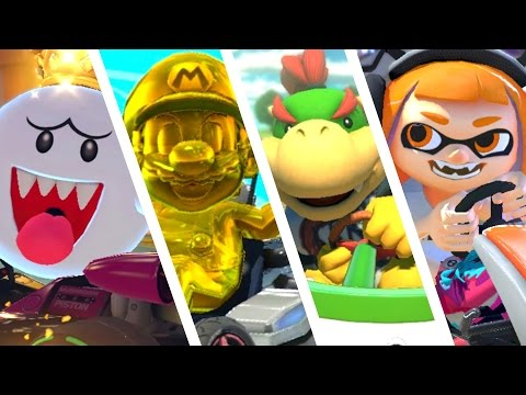 Thumbnail: Mario Kart 8 Deluxe - All 6 New Characters 200cc Gameplay!