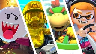 Mario Kart 8 Deluxe - All 6 New Characters 200cc Gameplay!