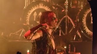 Watain - Erik gets distracted by a person on stage, see what he whishes that person 2018-Nov-25