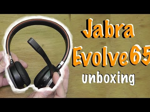 Jabra Evolve 65 Bluetooth Headphones Unboxing Youtube