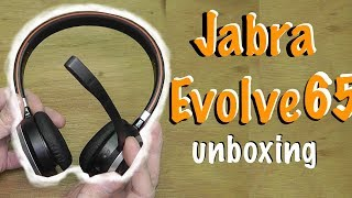 Jabra EVOLVE 65 bluetooth headphones - unboxing