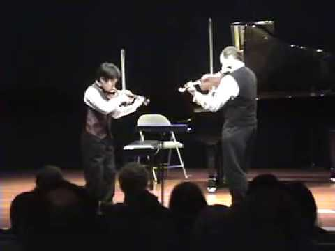 Mozart Tabletop Duet for 2 violins  with Andrew Lu  and Leonid Sushansky