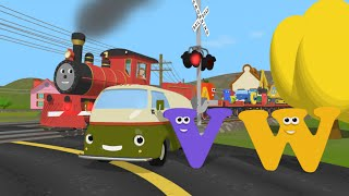 Learn about the Letters V and W - The Alphabet Adventure With Alice And Shawn The Train
