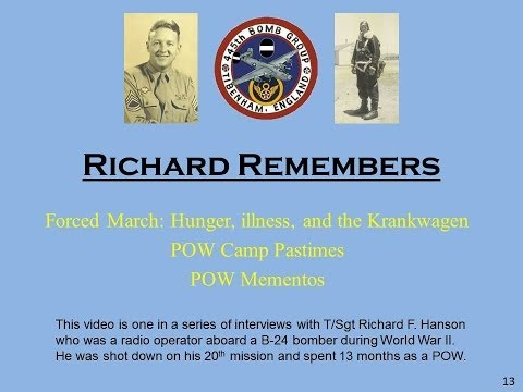 Richard Remembers - WWII:  Forced march memories, camp pastimes, and POW mementos (#13)