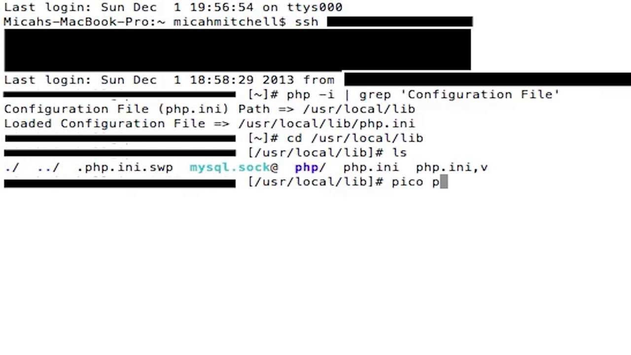 How to FIND and EDIT PHP.ini file using SSH.