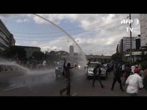Kenya police use tear gas, water cannon on protesters