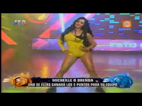 """Esto es Guerra - Michelle Soifer y Brenda Carvalho el """"Baile del totó"""" - 05-11-2015"""