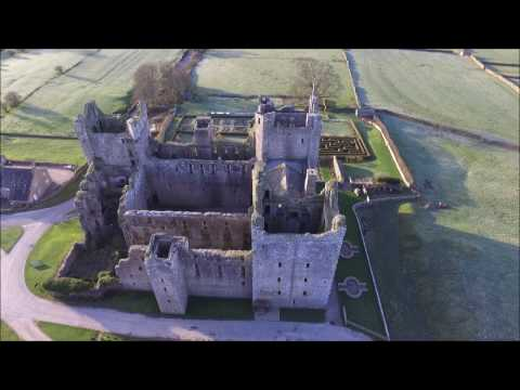 Bolton Castle 14th-century North Yorkshire with drone DJI Phantom