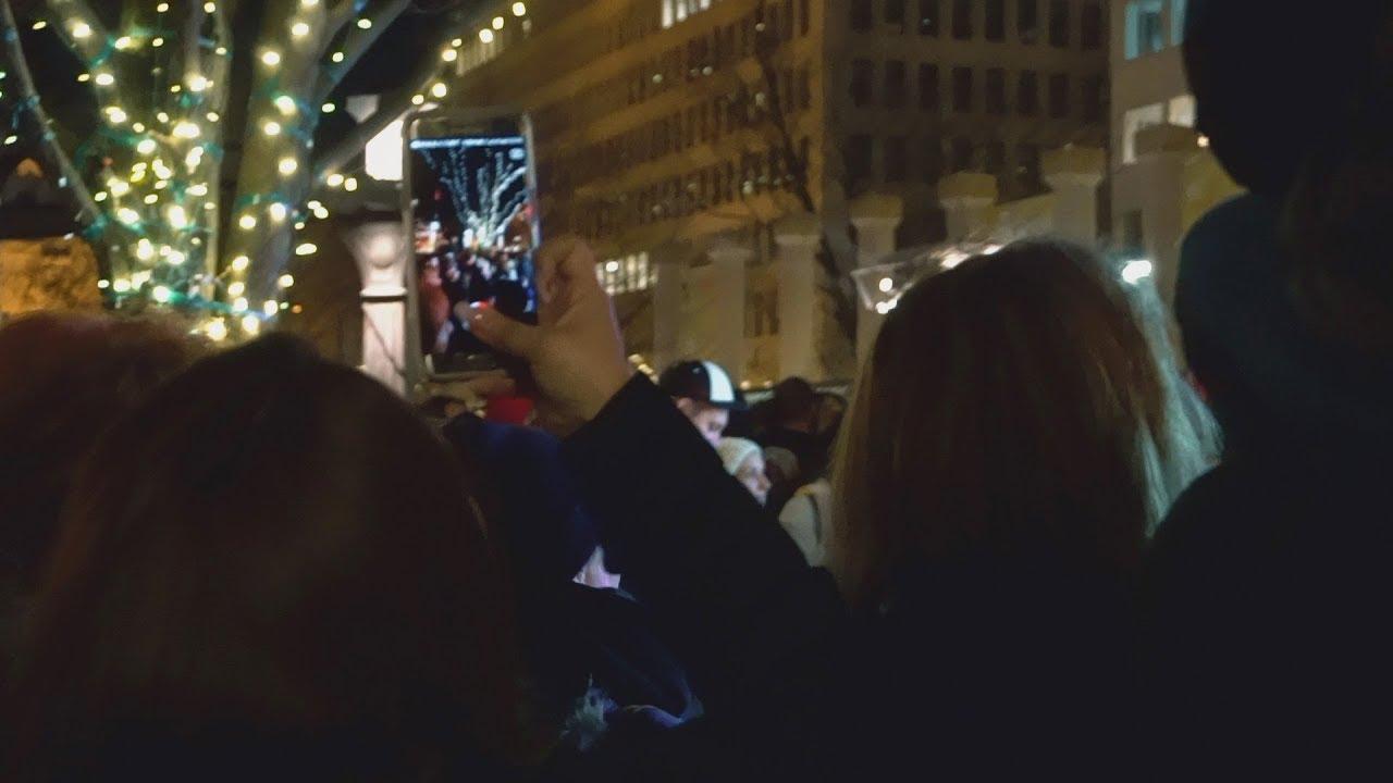 christmas tree lighting downtown portland oregon 2017 youtube