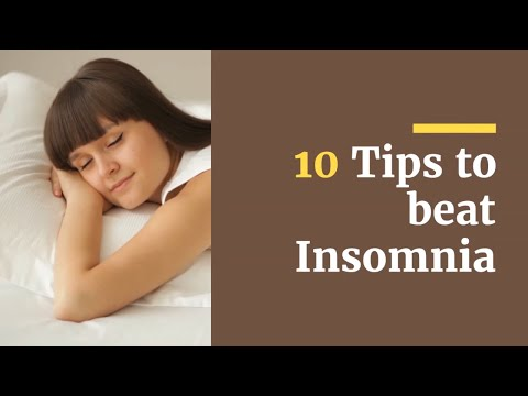 how to beat insomnia naturally without medication