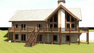 The Palouse: Log Home Design By Gravitas: Contemporary Log Cabin Plan
