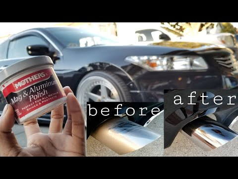 KEEP THOSE EXHAUST TIPS CLEAN | MOTHERS Mag & Aluminum Polish