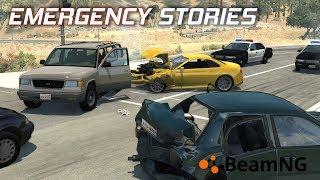 "Emergency Stories [6] (Short Stories) - BeamNG Drive - ""Stolen Sports Car Crash"""