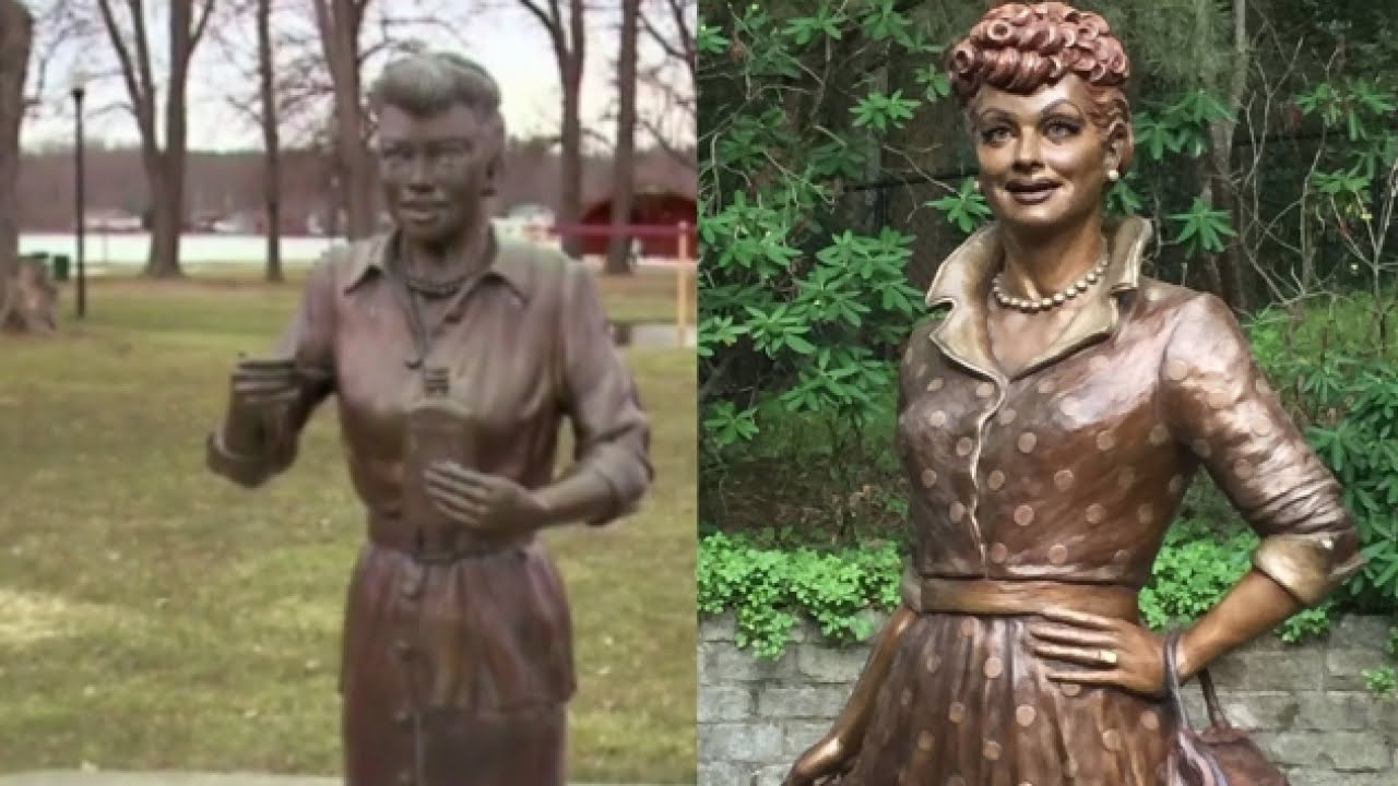 Lucille Ball Gets New Statue In Her Hometown Youtube