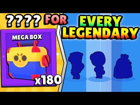 IT TOOK ??? MEGA BOXES TO OPEN ALL LEGENDARIES IN BRAWL STARS?! (OVER $700?!)